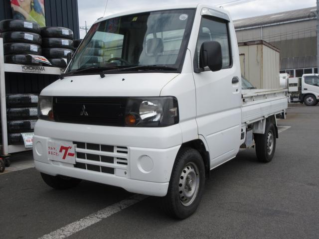 三菱 ミニキャブトラック Vタイプ エアコン パワステ 5速MT ラジオ 三方開 2WD