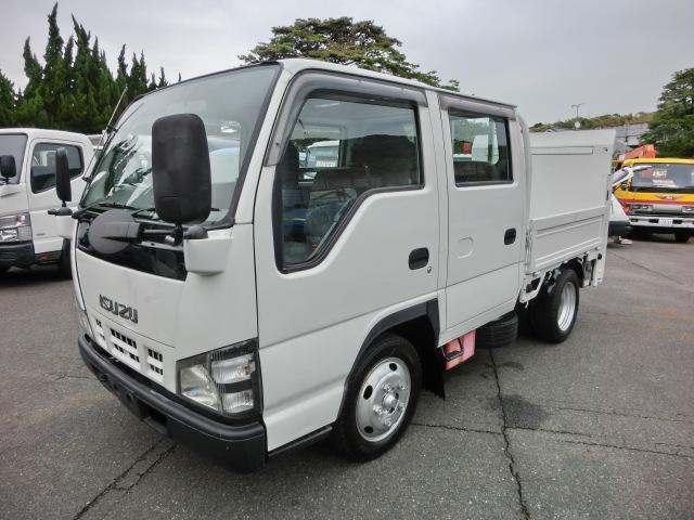 いすゞ Wキャブ 全低床 パワーゲート付 H18年式 6人乗 4ナンバー リアWタイヤ 荷台内寸長2000mm 走行20万キロ