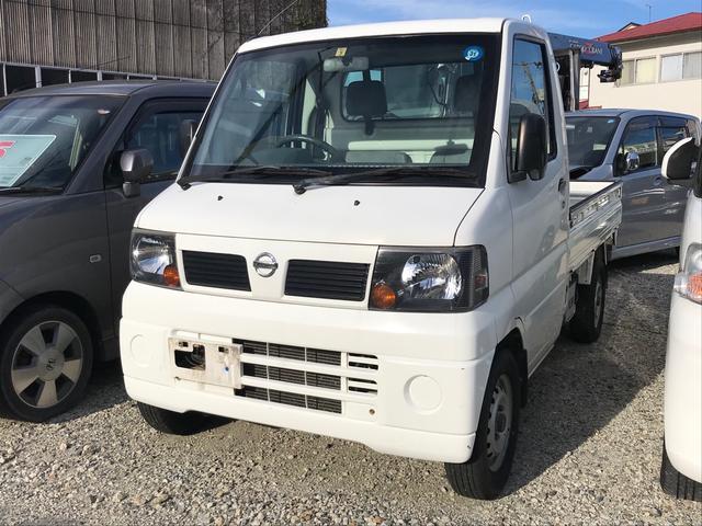 日産 DX 4WD AC MT 軽トラック ホワイト エアバッグ