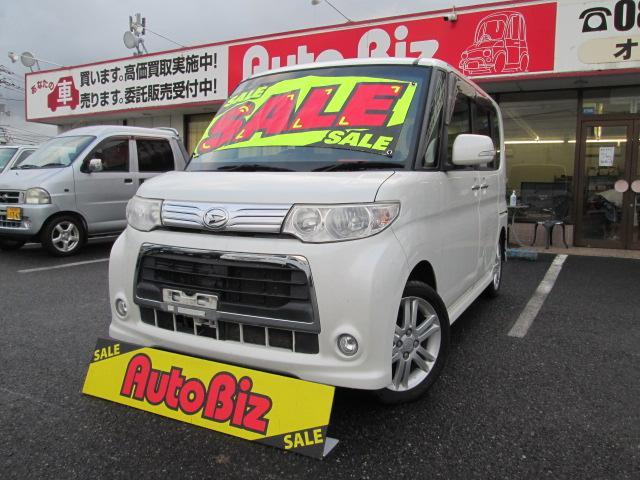 ダイハツ カスタムRS フルタイム4WD ターボ CVT スマートキー HID パワースライド ABS 純正アルミ MOMOステアリング