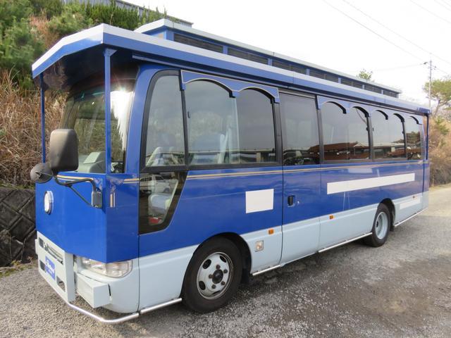 日産 シビリアンバス SVベース29人乗り レトロ調バスモケットシートスィングドア