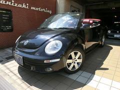 VW ニュービートルカブリオレヴィンテージ専用赤レザーシート&幌地デジHDDナビキーレス