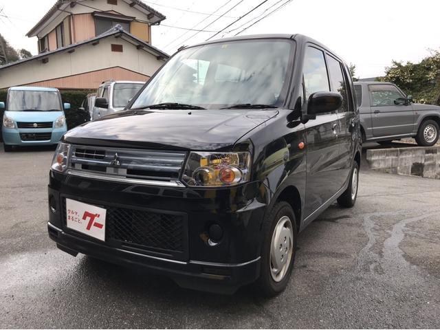 三菱 軽自動車 ブラックマイカ 車検整備付 AT