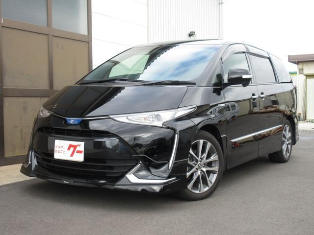 トヨタ アエラス プレミアム-G 4WD モデリスタエアロ 純正ナビ