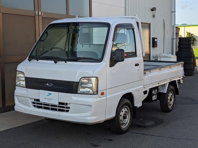 スバル TB 5速マニュアル 4WD エアコン パワステ 三方開き 運転席エアバッグ ゴムマット 軽トラ トラック