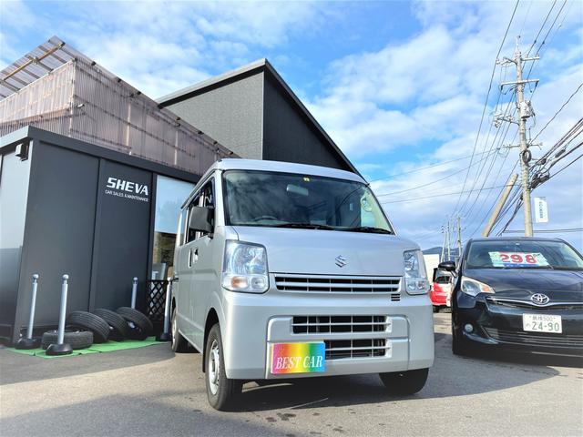 スズキ PA 4WD 5速ミッション MT エアコン パワステ AC/PS ワンオーナー 箱バン 軽バン FM/AMラジオ 平成27年式