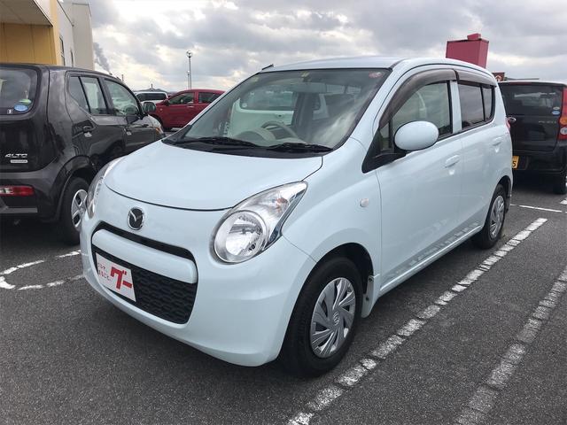 マツダ ECO-S ナビ 軽自動車 リーフホワイト CVT