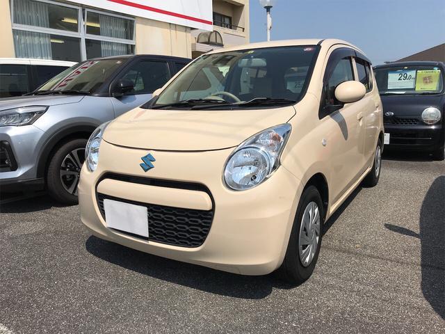 スズキ アルトエコ ECO-L ナビ 軽自動車 ミルクティーベージュメタリック