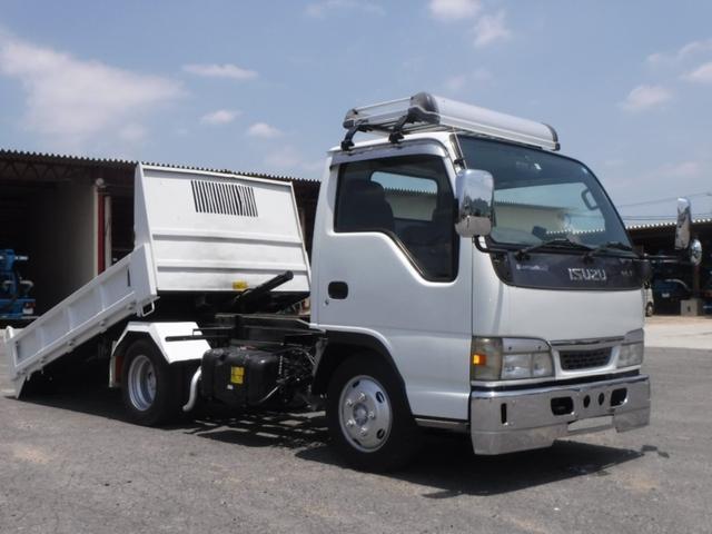 いすゞ H15年式いすゞエルフローダーダンプ!最大積載3t