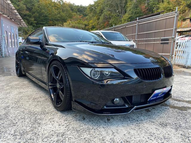 BMW 6シリーズ 630i 630i(4名) 赤レザー、サンルーフ、純正ナビ、20インチホイール、左右Wマフラー、車高調、F/Rスポイラー