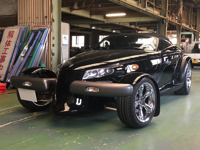プリムス  1999年モデル・左ハンドル・黒革シート・ETC・クルコン・フロント17インチアルミ・リア20インチアルミ