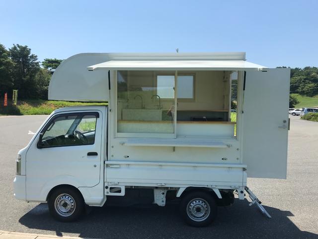 スズキ キャリイトラック KCエアコン・パワステ キッチンカー 100L給排水 サブバッテリーシステム搭載