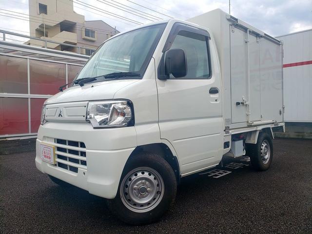 三菱  冷蔵冷凍車-5度〜25度設定 エアコン パワステ 3速AT ゴムマット バイザー FM/AMラジオ
