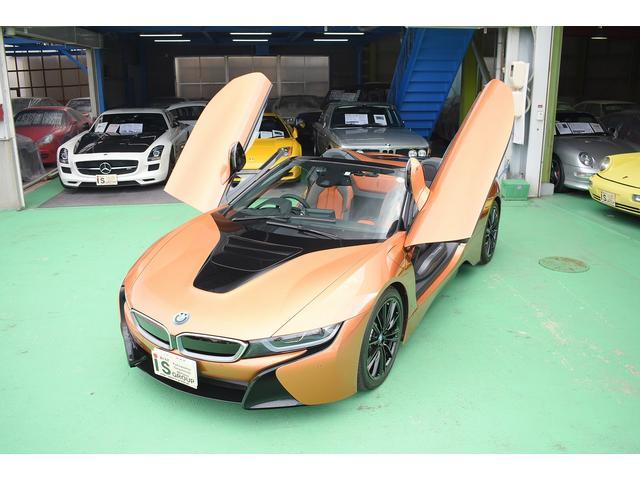 i8ロードスター(BMW)ロードスター 右ハンドル レーザーライト ドライカーボンインテリアトリム iインテリアデザインACCARO ブラックハイグロスブレーキキャリパー オプションアルミホイール ドライブレコーダー 中古車画像