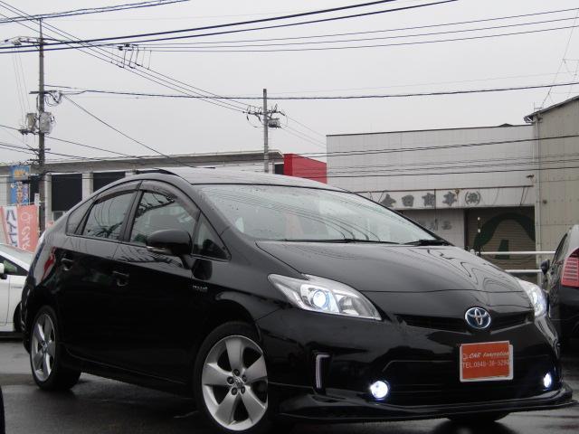 トヨタ Sサンルーフ後期仕様HIDライト新品レザー調シートカバー