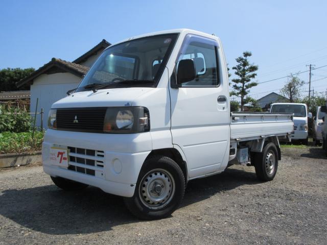 三菱 ミニキャブトラック ベースグレード 4WD エアコン パワステ 作業灯 荷台マット 5速MT