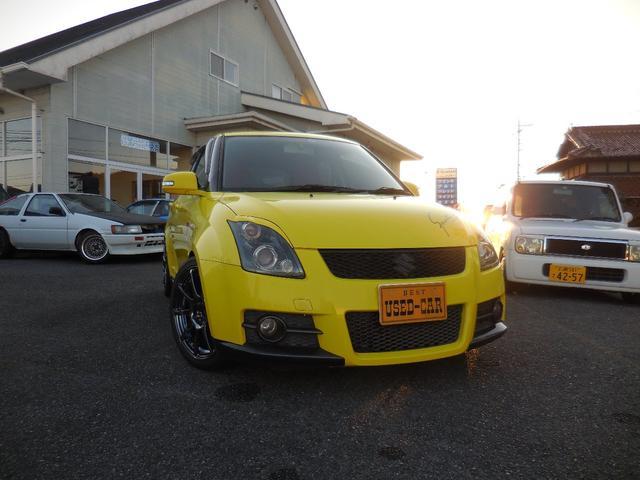 スズキ スイフト スポーツ クスコ車高調 17インチアルミ(ウエッズスポーツSA07) ロッソモデロマフラー