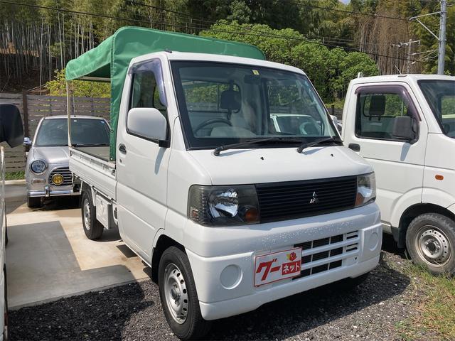 三菱 ミニキャブトラック VX-SE 幌 5速マニュアル 2WD エアコン パワステ 修復歴無 軽トラック 2名乗り