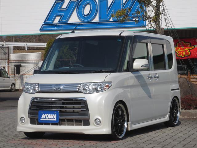 ダイハツ カスタムX 車高調 外メモリーナビ シートカバー
