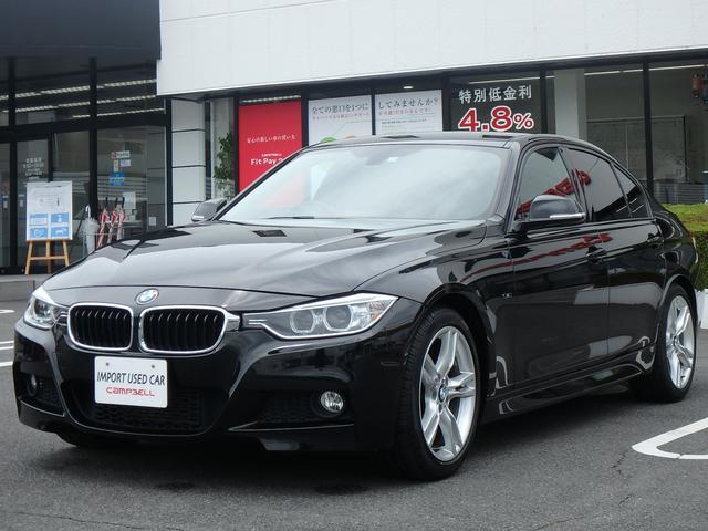 BMW 3シリーズ 320d Mスポーツ クリーンディーゼル・iDriveHDDナビ 輸入車ディーラー下取り ルームミラー内臓ETC・純正18インチアルミ・コンフォートアクセス・リアパークディスタンス・バックカメラ・Bluetooth