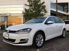 VW ゴルフヴァリアントTSIコンフォートライン 認定中古車 女性1オーナー 保証付
