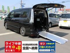 セレナハイウェイスターVセレ チェアキャブ車いす2台 手動装置付き