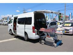 NV350キャラバンバン車いすリフト車 高さ調整式ストレッチャー付き ナビ