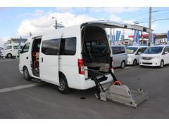 NV350キャラバンバン車いすリフト車 車いす4台対応 10人乗り 4WD