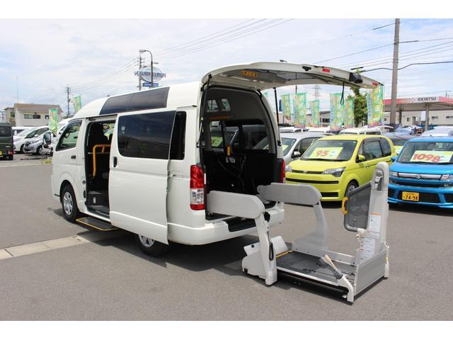 トヨタ 車いすリフト車 車いす2台 ルーフサイドウィンドウ 助手席側エアバッグ