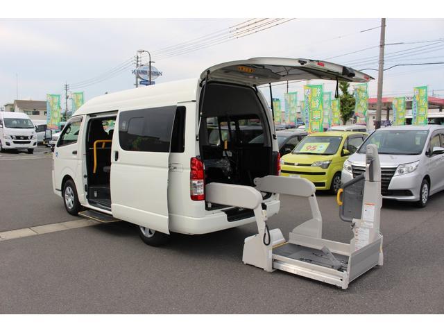 トヨタ 車いすリフト車 Aタイプ ABS、運転席・助手席エアバッグ、キーレス、バックモニター(ルームミラー内)、ソナー(前側)、リヤクーラー、リヤヒーター