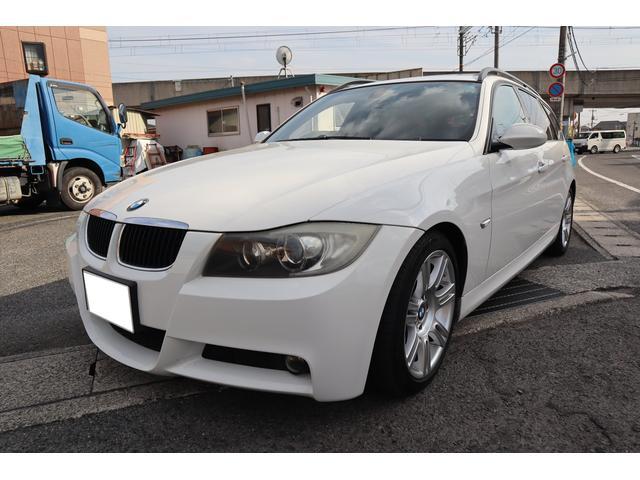 BMW 320iツーリング Mスポーツパッケージ 外ナビ フルセグ タイミングチェーン サンルーフ スマートキー プッシュスタート HIDヘッドライト パワーシート