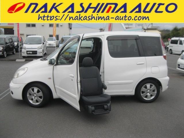 トヨタ ファンカーゴ 福祉車両 助手席リフトアップシート1オーナーオートエアコン