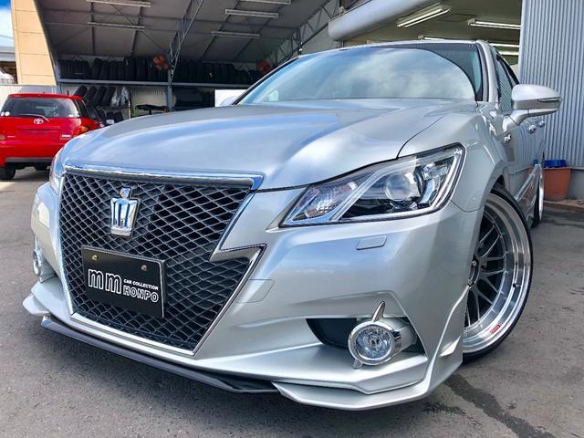 トヨタ アスリートG サンルーフ 黒革 外品アルミ 車高調 エアロ