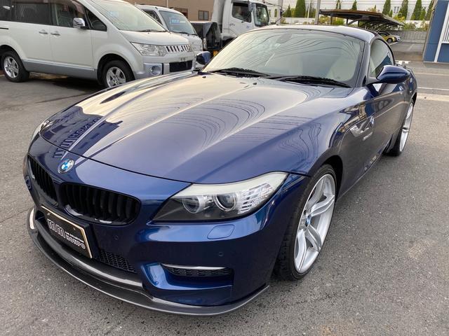 BMW  ナビ スマートキー シートヒーター AW オーディオ付 2名乗り オープンカー 紺 AT AC パワーウィンドウ