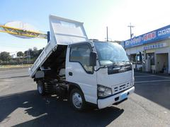 エルフトラック強化ダンプ4WD5速全低床2トンフル装備