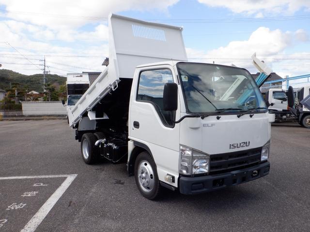 いすゞ エルフトラック 強化フルフラットローダンプ 5速 2トン積み 4ナンバ- 3000D-TB フル装備 坂道発進装置 普通免許OK