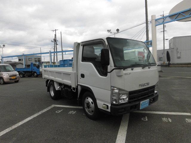 いすゞ エルフトラック 強化フルフラットローダンプ 6速 3トン積み 3000ディ-ゼルターボ 全低床 ETC 坂道発進装置 ABS