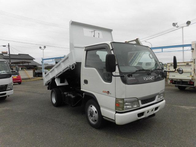 いすゞ エルフトラック ダンプ 4WD 2t 全低床 フル装備 NOX・PM 適合 全国どこでも登録できます