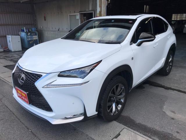 レクサス NX200t Fスポーツ 革シート サンルーフ 純正ナビTV