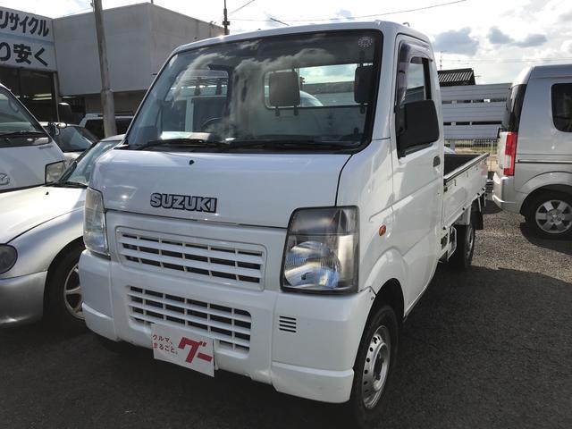 スズキ KCエアコン・パワステ 4WD エアコン 軽トラック 保証付