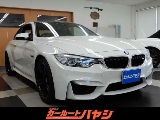 BMW M4 M4クーペ DCT/ドライブロジック/2オーナー/禁煙車/インテリジェントセイフティ/レーンディパーチャーウォーニング/ヘッドアップディスプレイ/コーナーソナー/HDDナビ/バックカメラ/スペアキー/デイライト