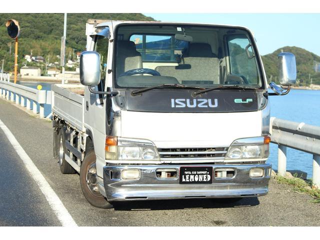 いすゞ  平ボディー TADANOクレーン付き 最大積載量2000kg 5MT