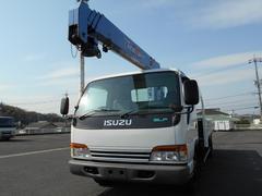 エルフトラック2.9t吊4段クレーン 3.45t積ワイド超ロング 全低床