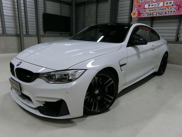 BMW M4クーペ 黒革 FRスポ 外サス外エアロ 外カーボンパーツ
