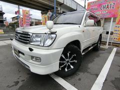 ランドクルーザー100VXLTD Gセレ 4WD 外18AW SR本革HDDナビ