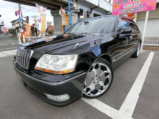 トヨタ クラウンマジェスタ Aタイプ 外19AW車高調 HID ナビ キーレス CD