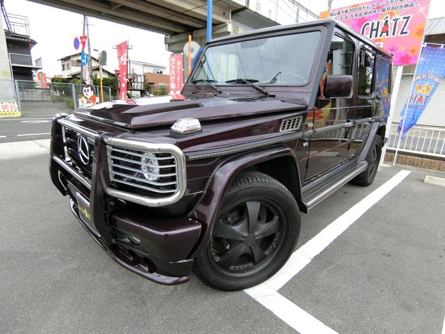 メルセデス・ベンツ G500クラシック 4WD左H SR黒革 エアロ外20AW