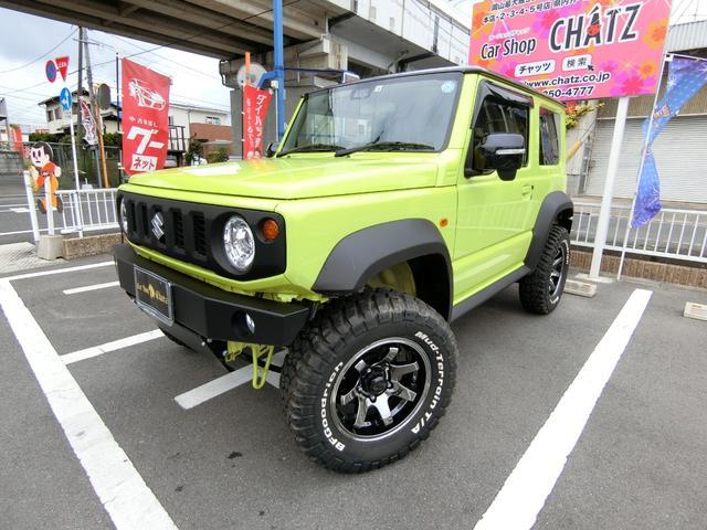 スズキ ジムニーシエラ JC 5MT 4WD 外品バンパー 外AW 3リフトUP