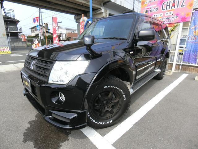 三菱 ロング GR 1オーナー車庫保管 4WD 外品エアロ 外品16AW 足回り改 HID Rスポ 背面タイヤ&カバー 革調席