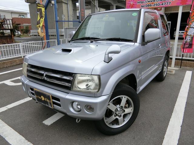 三菱 アクティブフィールドエディション ターボ 4WD 背面タイヤ 純正15AW キーレス フル装備 ABS CD